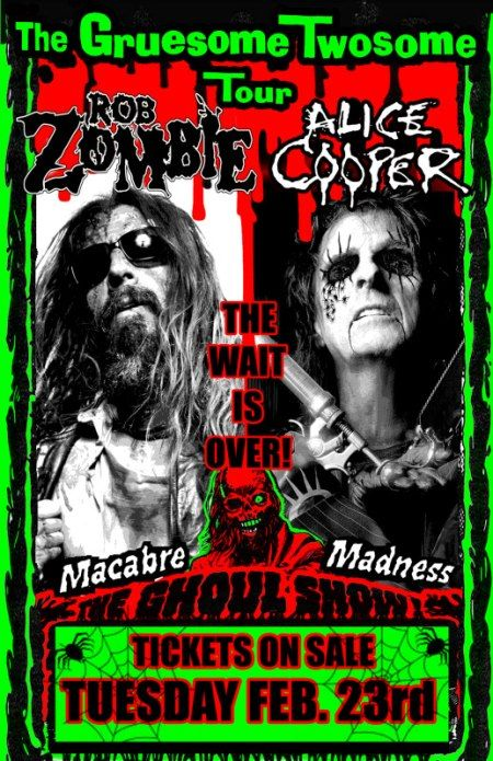 | ... -Rock Return: Alice Cooper and Rob Zombie at Download Festival 2011