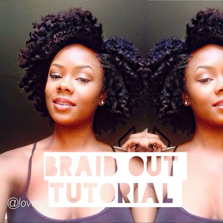 Natural Hair Braid Out Tutorial [Video | Natural hair ...