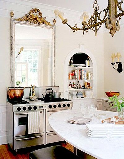 .: Stove, Kitchens Spaces, Dreams Kitchens, Mirror Mirror, Southern Style, Antiques Mirror, Tiny Kitchens, Kitchens Doors, French Kitchens