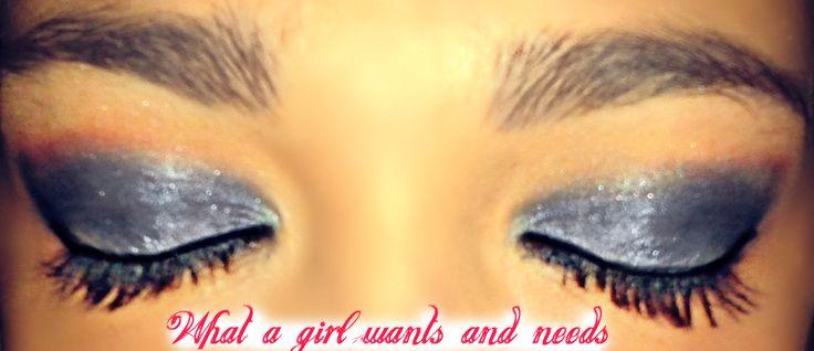 Blue Eyeshadow Makeup <3
