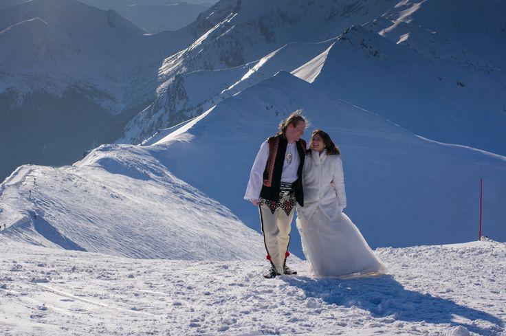 Wedding photography session in the Tatra Mountains. / Plener ślubny w Tatrach.