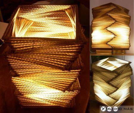modelo flechazo lámpara de cartón cartón láminas cortadas d cartón