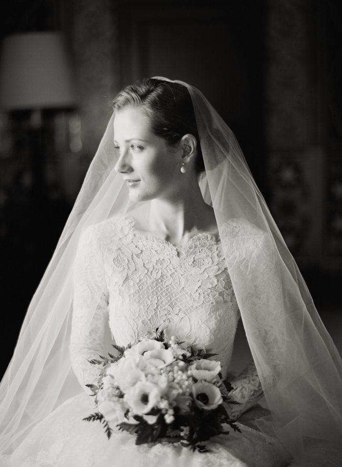 Clic Lace Inspiration Modest Wedding Gown The Veil Flowers Hair