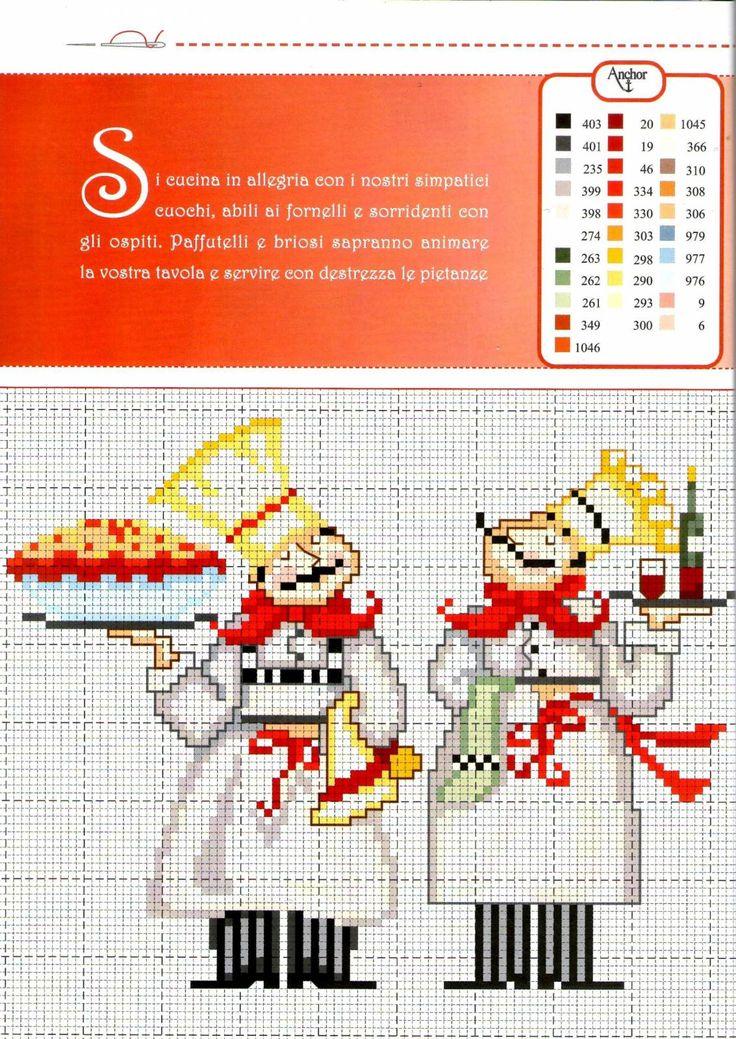 chefs -- free cross stitch pattern