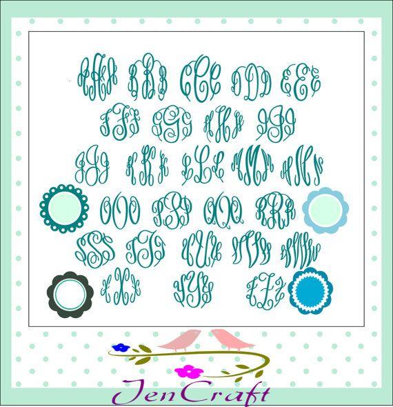 Master Circle Monogram font SVG DXF EPS Free by JenCraftDesigns