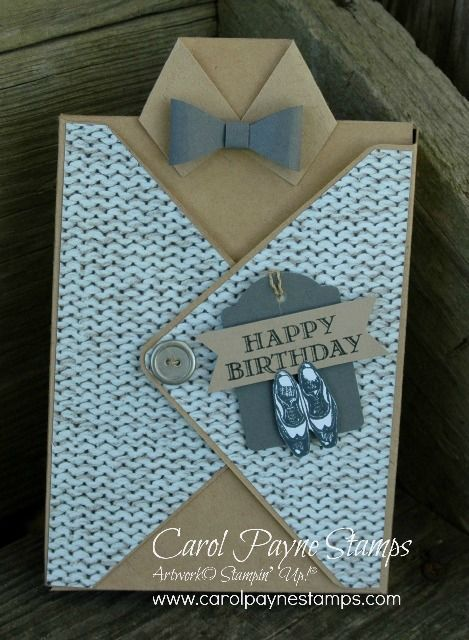 """Stampin' Up!, Guy Greetings, Adventure Bound Designer Series Paper Stack,Bow Builder Punch. The Stamper's Dozen Blog Hop """"Manly May"""" starts on my blog today!"""