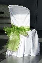 Noeud pour chaise mariage vert anis