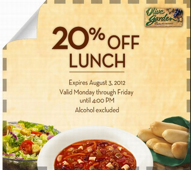 olive garden lunch coupons printable 2013 | Olive Garden Coupons: 20 Off Lunch Menu olive garden coupons 2012-2013 ...