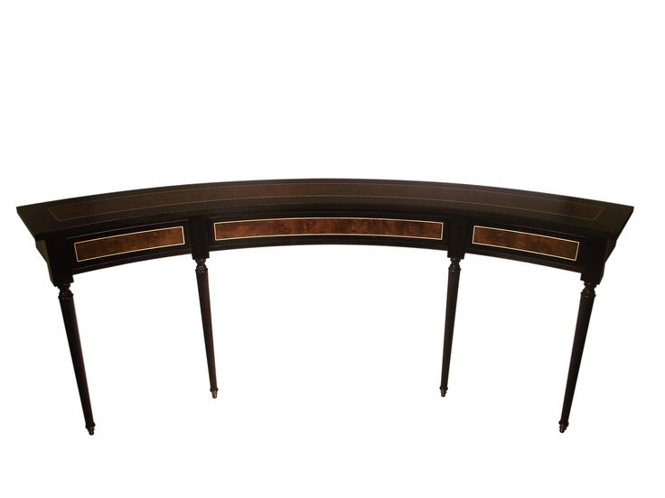 Curved sofa table new clive christian collection for Curved sofa table for sectional