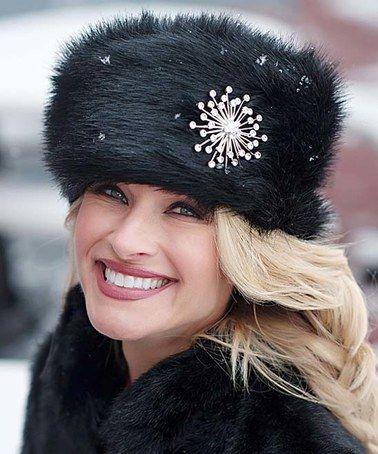 Love this Black Fox Faux Fur Russian Hat on #zulily! #zulilyfinds