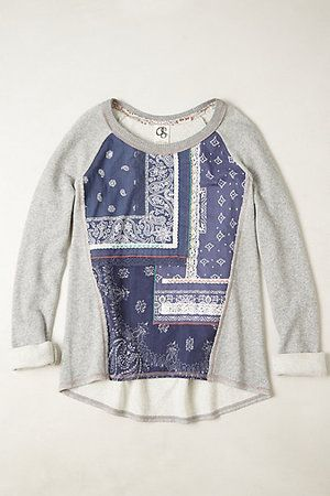 The perfect patchwork sweatshirt from Anthropologie...saw this on a sales person and it looks adorable!