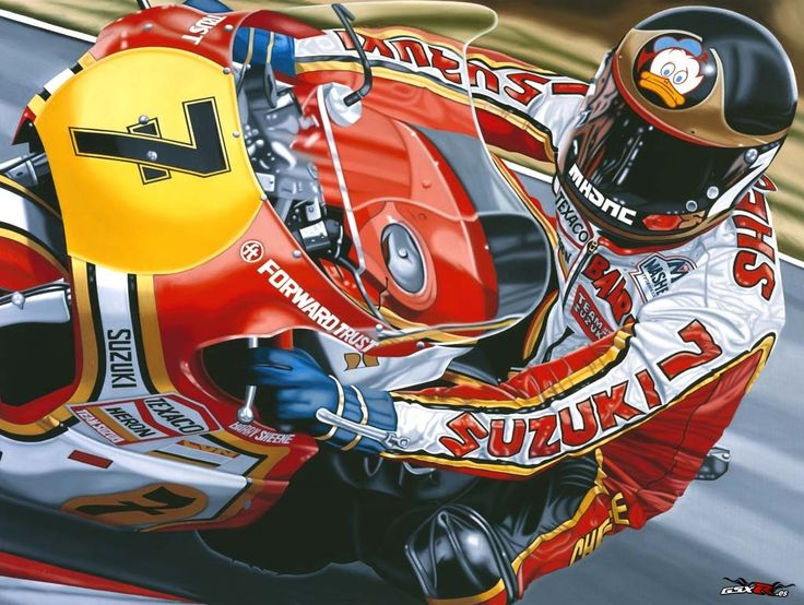 Barry Sheene forever! The short Brit with the Duck and number 7