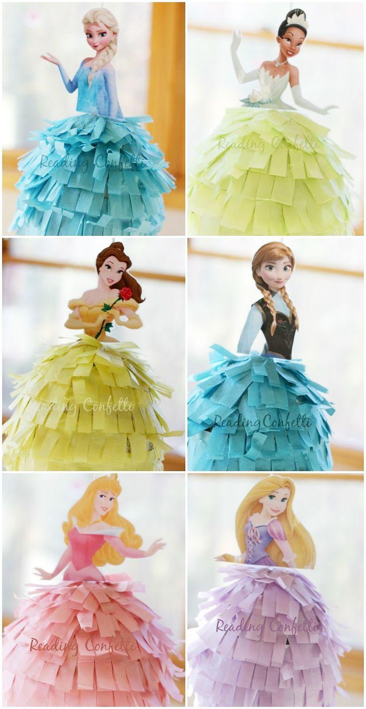 Tutorial de como hacer estas piñatas de Princesas Disney. #ManualidadesParaFiestas
