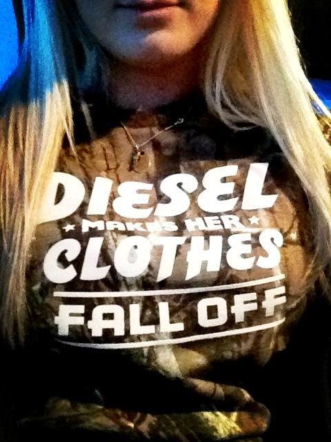 DieselTees~ DIESEL MAKES HER CLOTHES FALL OFF tee selfie | Find your choice from www.DieselTees.com #dieseltees #dieselmechanic