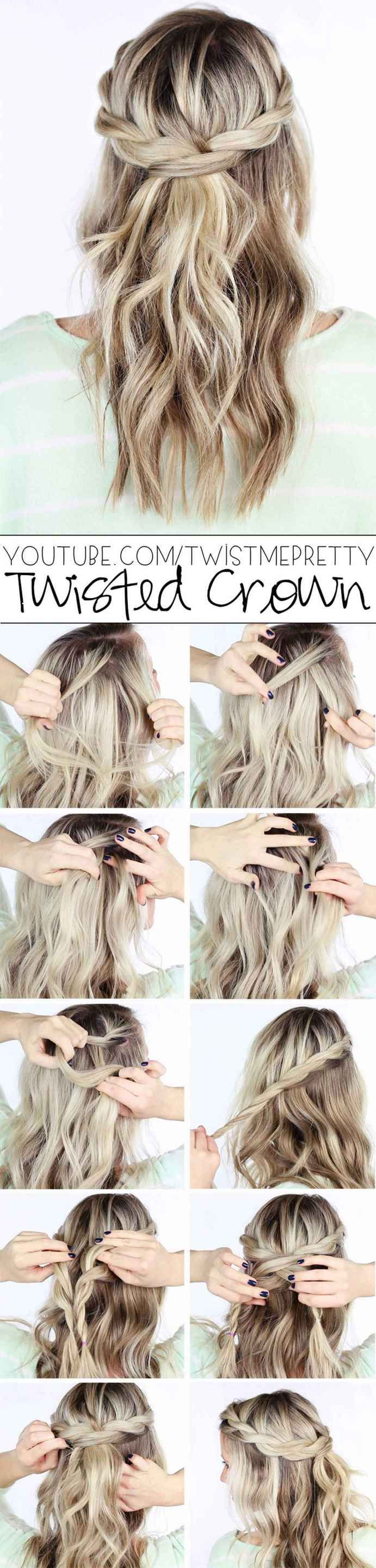 Hairstyles Diy And Tutorial For All Hair Lengths 016