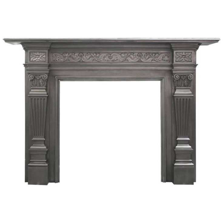 Antique Coalbrookdale Victorian Cast Iron Fireplace Surround | From a unique collection of antique and modern fireplace tools and chimney pots at https://www.1stdibs.com/furniture/building-garden/fireplace-tools-chimney-pots/