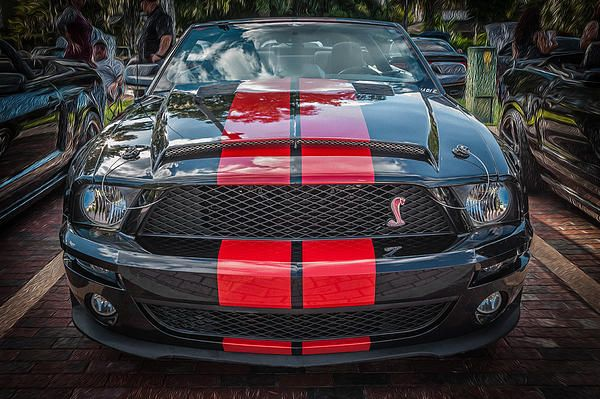 A very nice 2007 Ford Mustang, Black & Red Convertible at a local car show here in Florida.