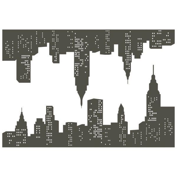 Buy Living in the City Wall Stickers, HI39147 online at JohnLewis.com... ($40) ❤ liked on Polyvore