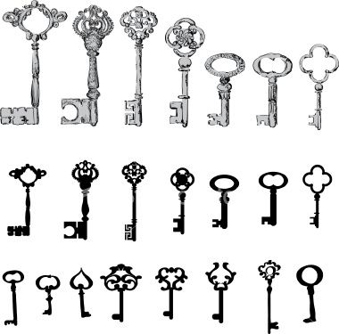 Skeleton key tattoo ideas..
