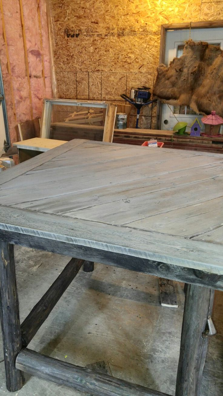Table bois rustic
