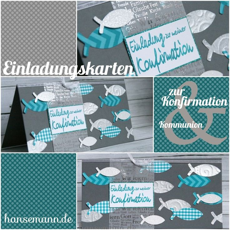 made-by-imme.de: Nr. 5  - Einladungskarten zur Konfirmation / Kommu...