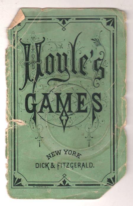 """According to Hoyle's...."" Via Art Chantry. Card games"