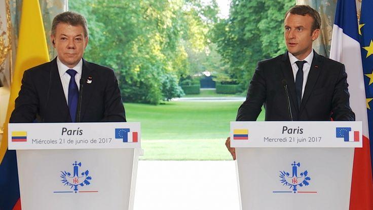 Déclaration conjointe d'Emmanuel MACRON et de Juan Manuel SANTOS, Président de la République de Colombie.