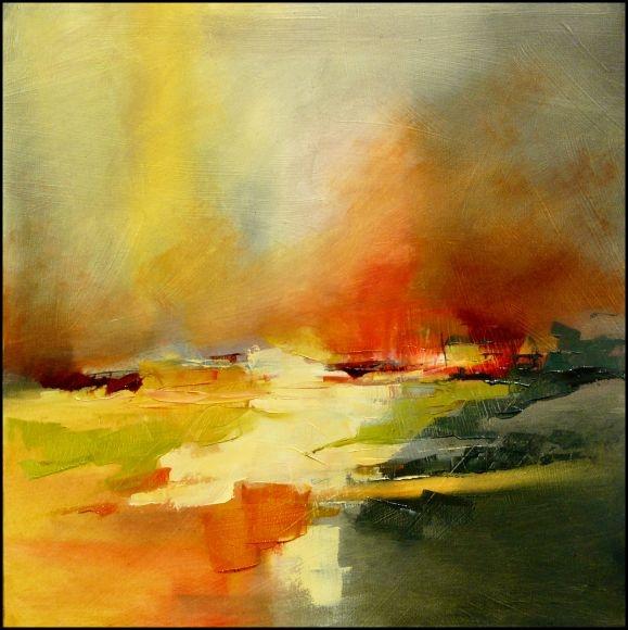 Les 25 meilleures id es de la cat gorie paysages abstraits sur pinterest pe - Tableaux modernes colores ...