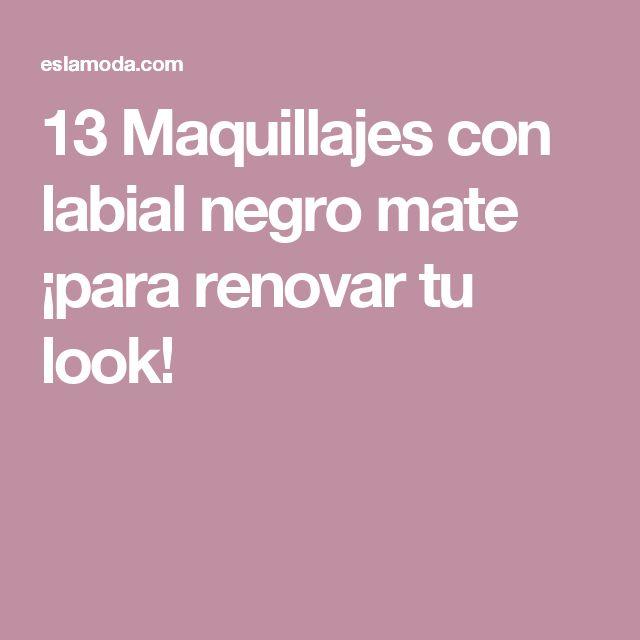 13 Maquillajes con labial negro mate ¡para renovar tu look!