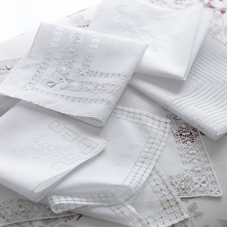 Beautiful embroidered handkerchiefs exclusive to Cologne & Cotton