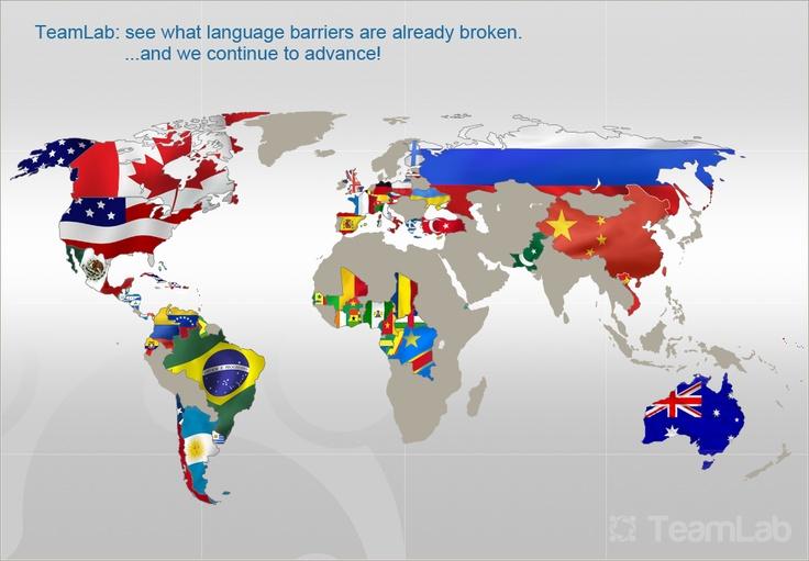 Discover the world of TeamLabish languages: English, German, French, Spanish, Russian, Latvian, Italian, Chinese Simplified, Ukrainian, Polish, Portuguese (Brazilian), Greek, Turkish, Czech, Vietnamese, Finnish and Portuguese
