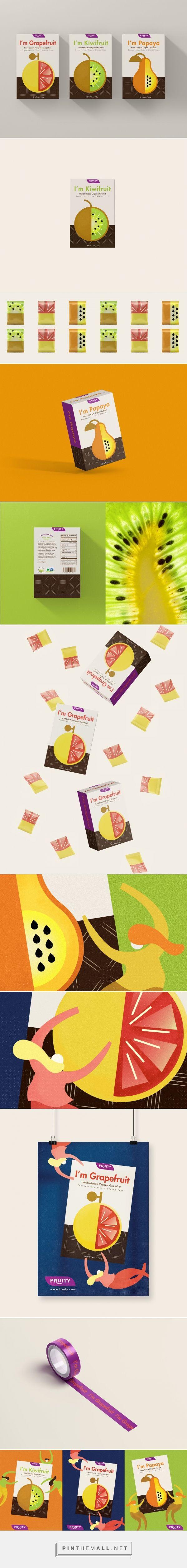 Fruity Dried Fruit Snack packaging design concept by Zhaoyi Wang - http://www.packagingoftheworld.com/2018/01/fruity-dried-fruit-snack.html