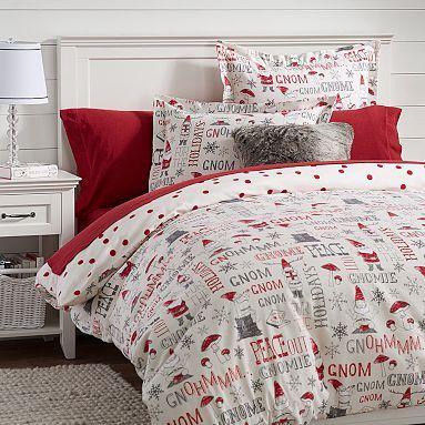 Reversible Gnome Flannel Duvet U0026 Sham #pbteen. Christmas BeddingChristmas Bed  SheetsGirl ...