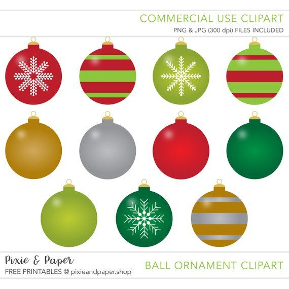 Christmas Tree Ornament Clipart Commercial Use No Extended