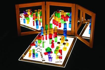 Mirror and light box colour exploration