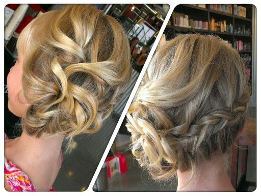 A birthday updo for a special little girl!