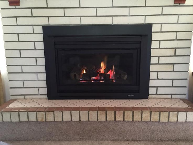 We Replaced An Outdated Wood Burning Fireplace With A Natural Gas Fireplace Insert Fireplaces