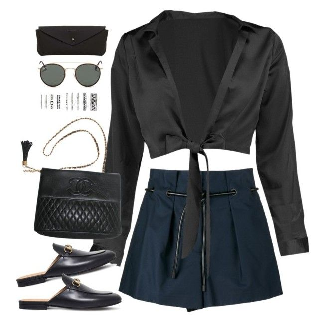 """Sem título #5114"" by fashionnfacts ❤ liked on Polyvore featuring 3.1 Phillip Lim, Boohoo, Gucci, Chanel, Forever 21, Ray-Ban and MANGO"