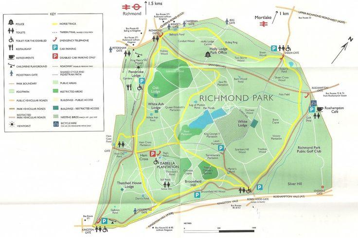 Map Of Richmond Park  Interiors  Art  Pinterest  Parks