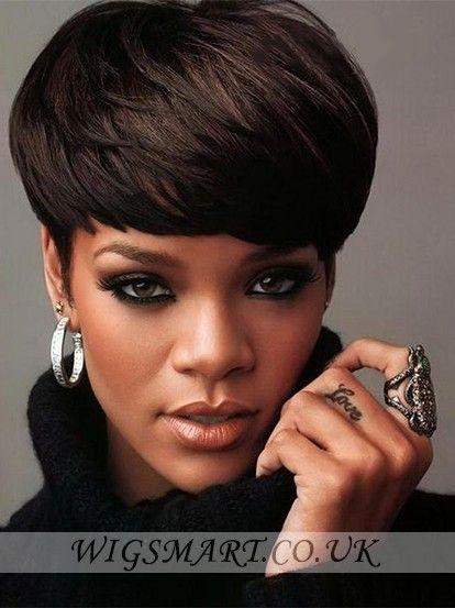 Rihanna Haircut Beautiful Wig, Rihanna Style Hair Wigs | P4
