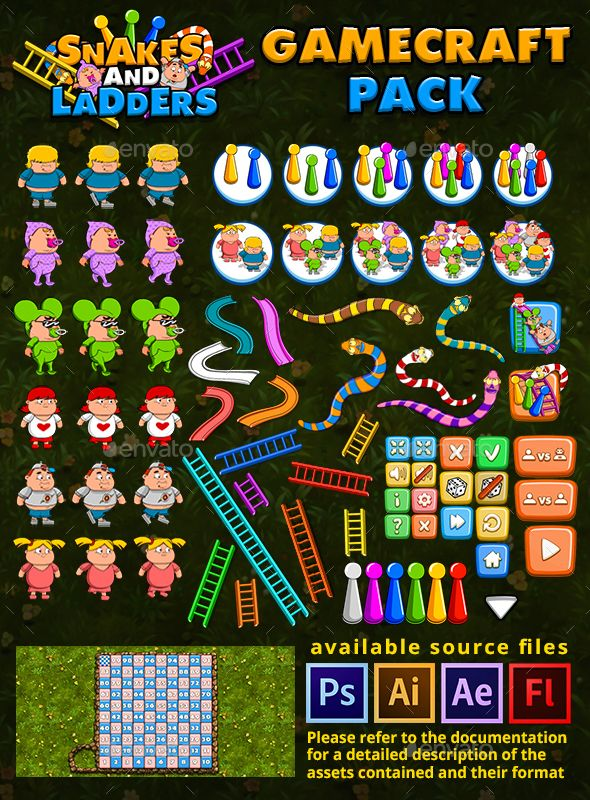 Snakes And Ladders Game Assets Snakes And Ladders Game Assets