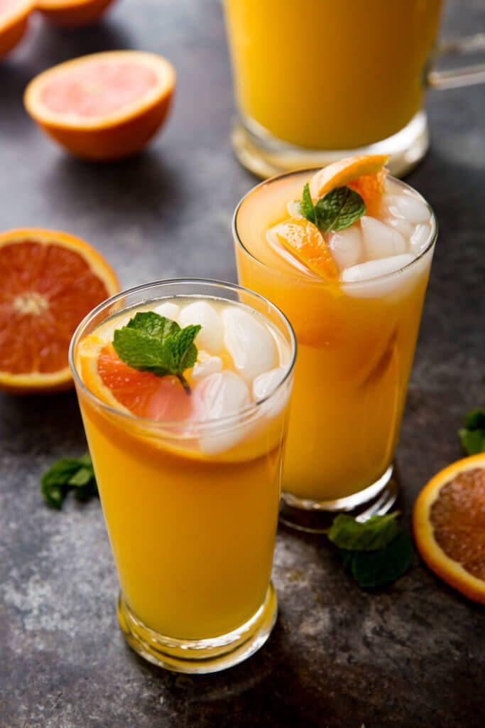 Mongo Orange Mojito refreshing summer drink with no alcohol, virgin mojito