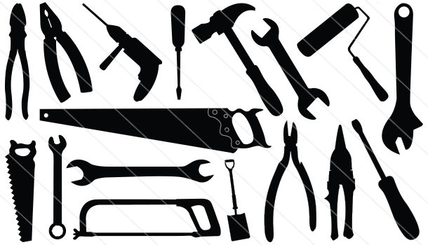 Construction Tools Silhouette Vector 18 Silhouette