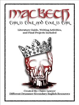 This is a comprehensive literature guide with anticipation guides, writing assignments, activities, final project details, and lecture notes.    Students are challenged with higher thinking, analytical questions about themes, characters, plot, literary devices, and quotation analysis. These questions are not fact based, but ask students to go beyond the superficial text into the development of the story and the author's purpose.