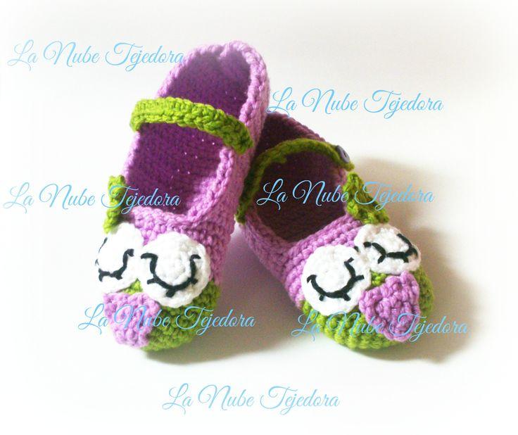 Patucos violeta merceditas buhito soñardor love love