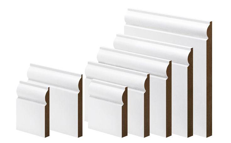 Metsäwood White MDF Torus Skirting (L)3.6m (W)119mm (T)18mm   Departments   DIY at B&Q