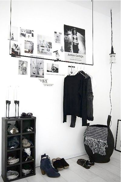 my scandinavian home: decorating with clothes