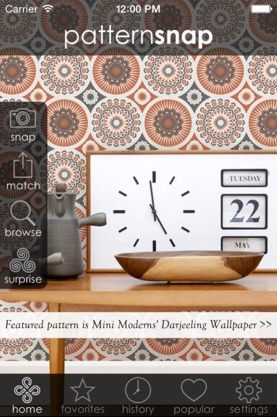 10.7.14 - Today's Featured pattern is Mini Moderns' 'Darjeeling Wallpaper'