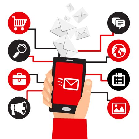 Market Your business using Email Marketing, Mobile Push Notifications, Social Media Apps.