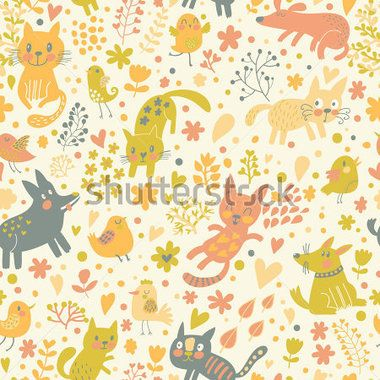 Papel de colgadura perros & gatos